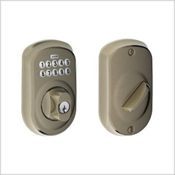 Schlage BE365 Plymouth Keypad Deadbolt
