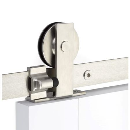 Emtek Modern Rectangular Top Mount Barn Door Hdwr Stainless Stl