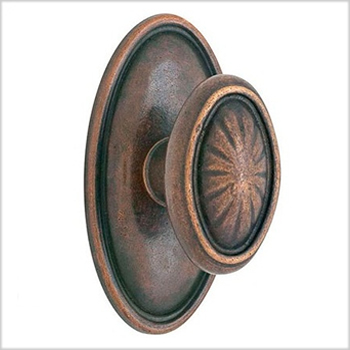 Emtek Lost Wax Bronze Parma Door Knob (PA)