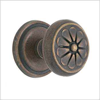 Emtek Lost Wax Bronze Petal Door Knob (PT)