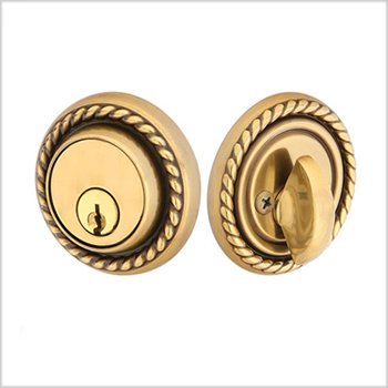 Emtek Brass Rope Deadbolt