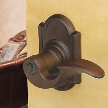 Emtek Lost Wax Bronze Siena Key-In Leverset (SN)
